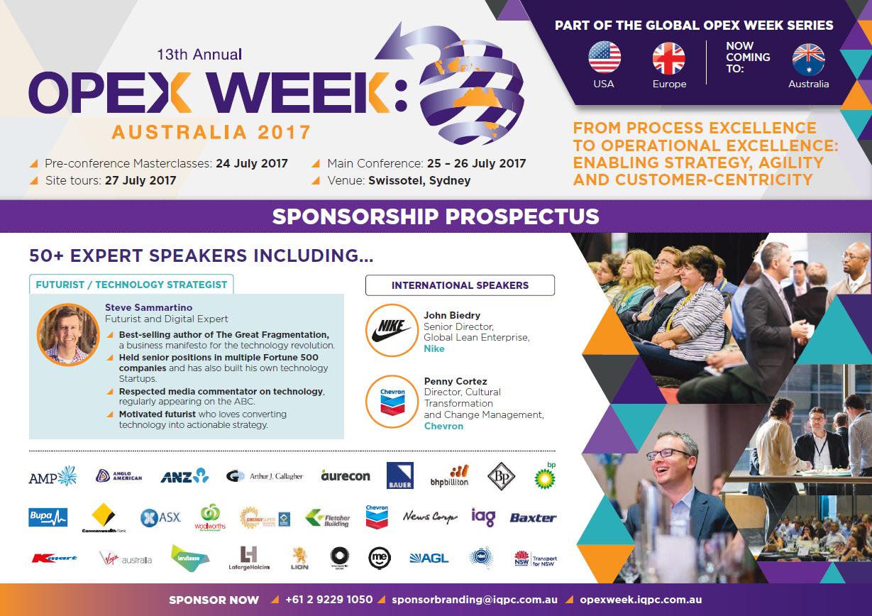 OPEX Australia 2017 Sponsorship Prospectus
