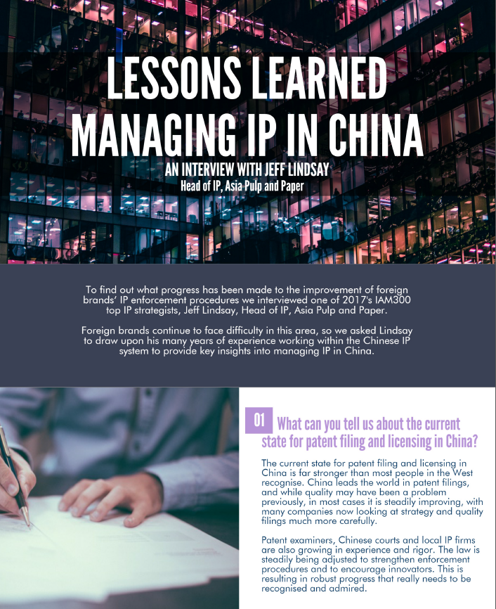 Lessons Learned Managing IP in China