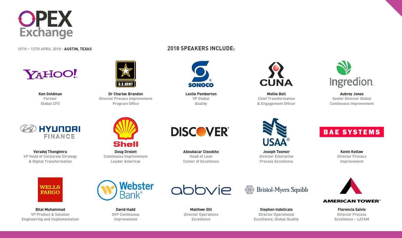 OPEX Exchange Spring 2018 Agenda