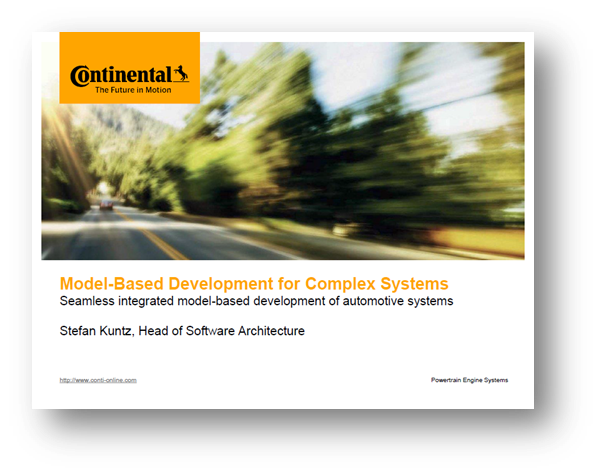 Model-Based Development for Complex Systems