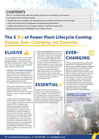 3 Strategies for Power Plant Lifecycle Cost Analysis to Increase Your Asset Profitability