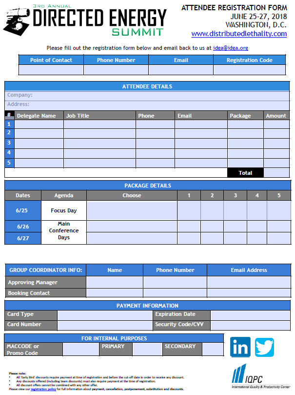 Directed Energy Systems Registration Form
