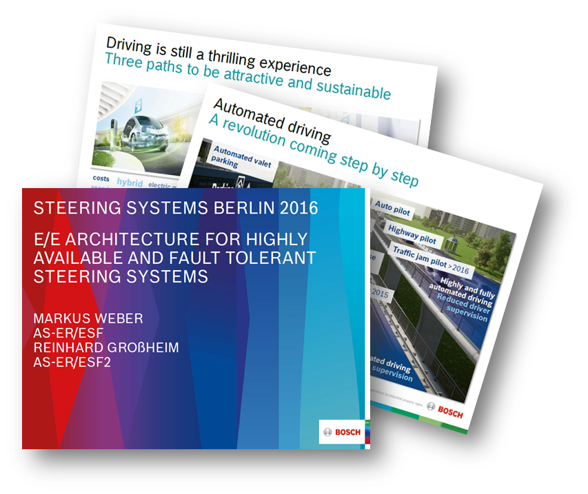 "Robert Bosch on ""E/E Architecture for highly available and fault tolerant Steering Systems"""