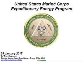 2017 - United States Marine Corps Expeditionary Energy Program