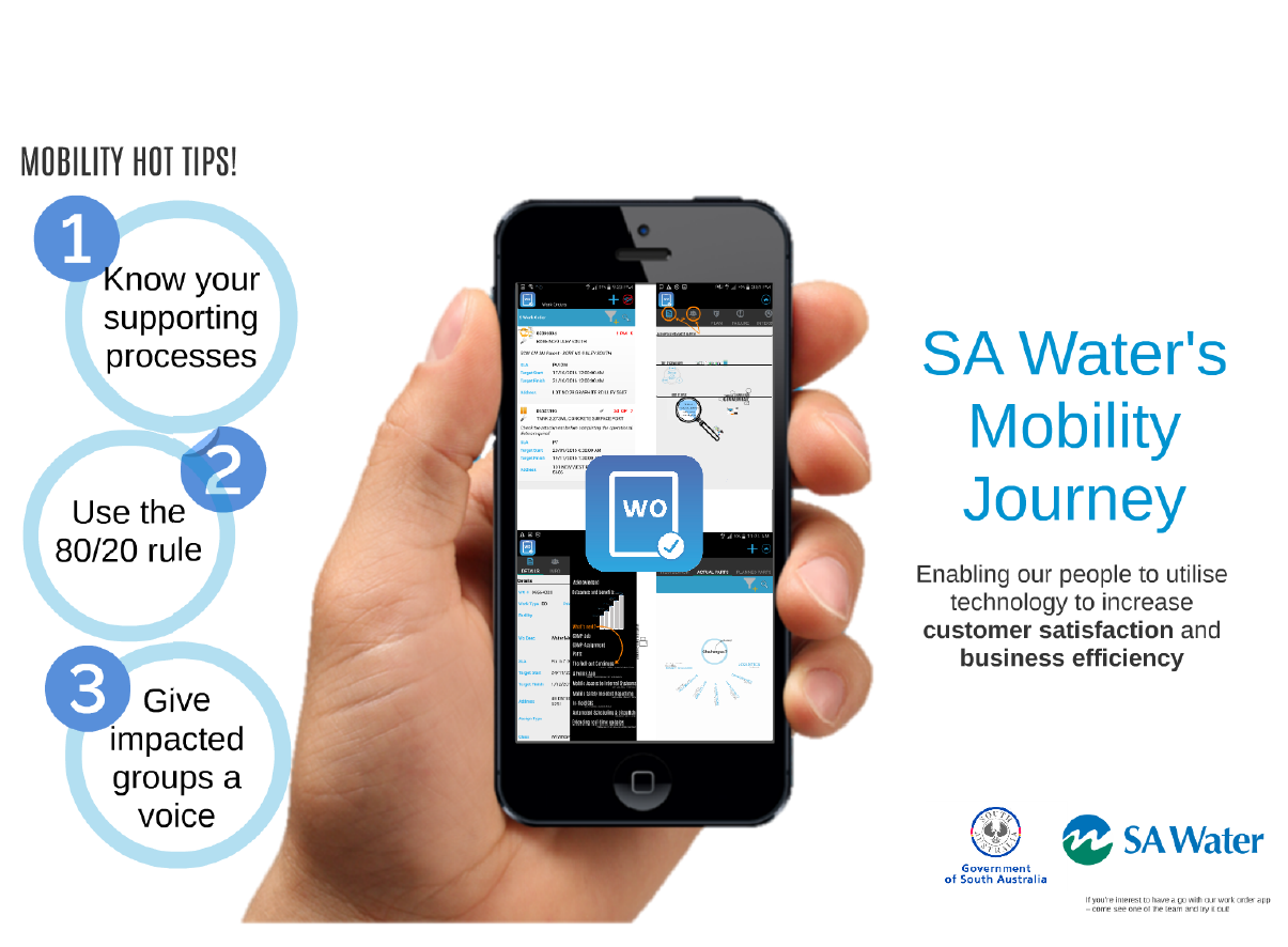 SA Water's Mobility Journey – enabling our people to utilise technology to increase business efficiency and customer satisfaction