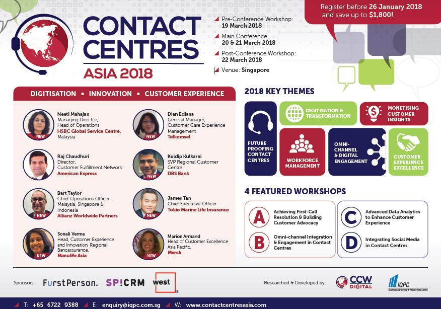 View The 2018 Event Guide - Contact Centres Asia 2018