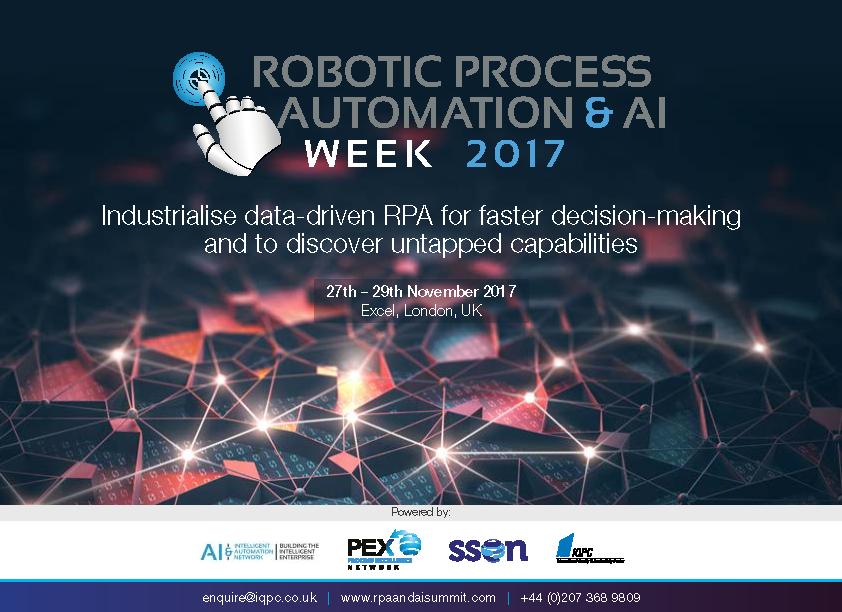 RPA & AI Week 2017 - Agenda - Sponsorship