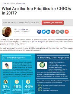 Focus On The C-Suite: 2017 Priorities of CHROs
