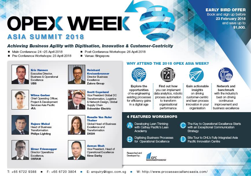 Operational & Process Excellence (OPEX) Week Asia Summit 2018