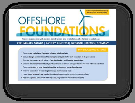 Offshore Foundations 2018 Agenda