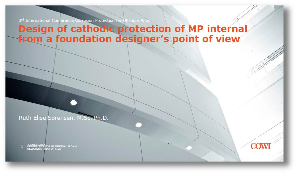 Design of cathodic protection of MP internal from a foundation designer's point of view