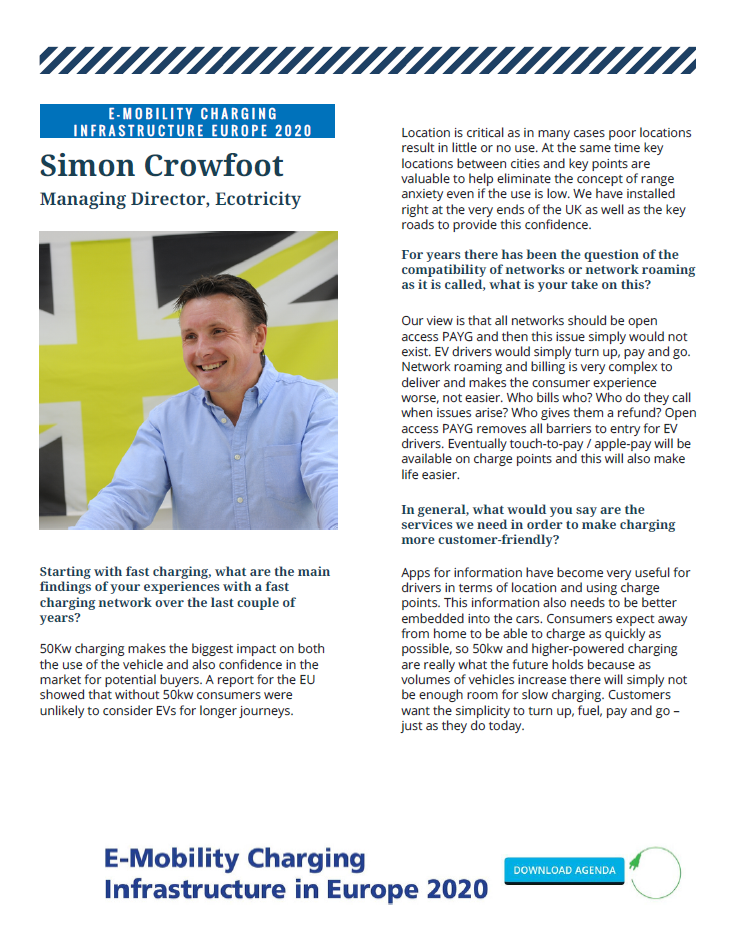 Interview with Simon Crowfoot, Managing Director at Ecotricity