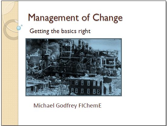 Management of Change – get the basics right