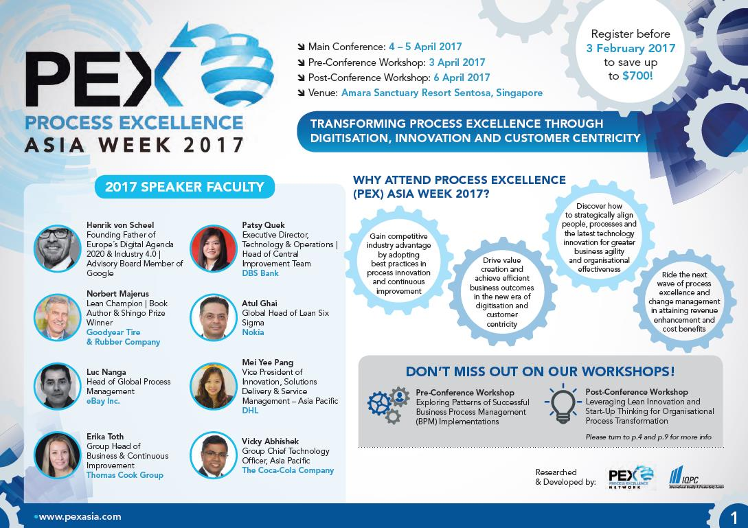 Process Excellence (PEX) Asia Week 2017