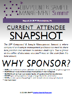13th Annual Compound & Sample Management Summit Attendee Snapshot