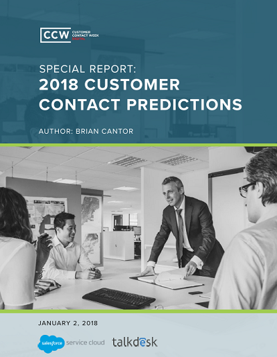 Special Report: 2018 Customer Contact Predictions