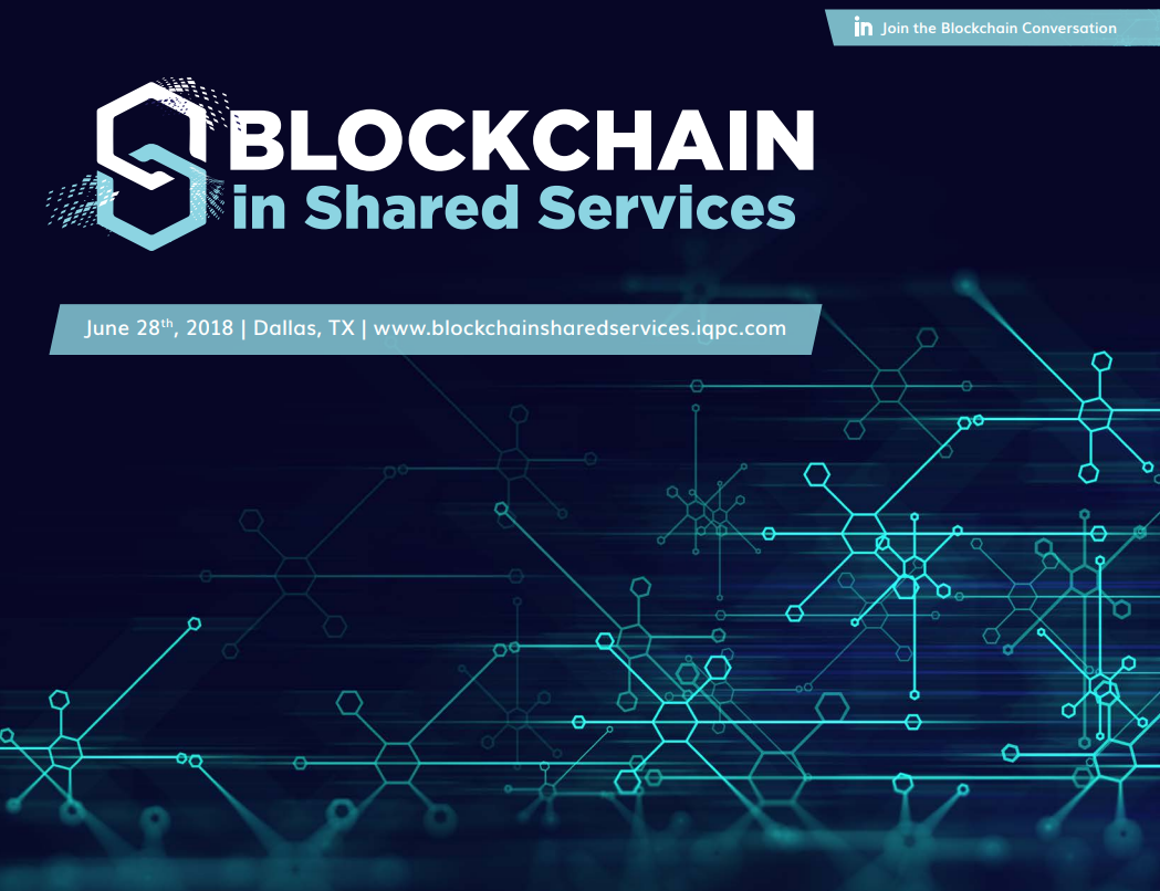 Blockchain in Shared Services - see the Agenda!