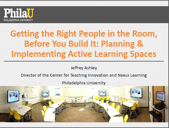 Getting the Right People in the Room, Before You Build It: Planning & Implementing Active Learning Spaces