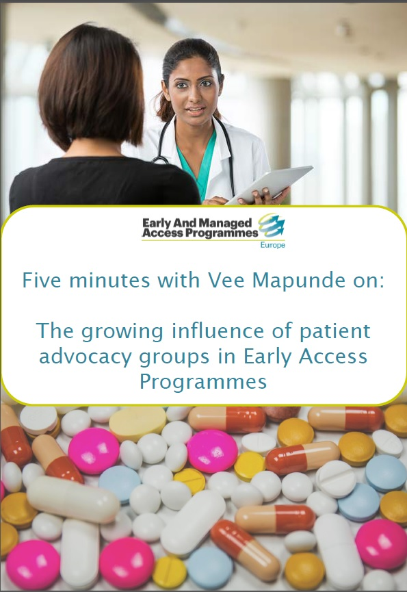 Five minutes with Vee Mapunde on: the growing influence of patient advocacy groups in Early Access Programmes