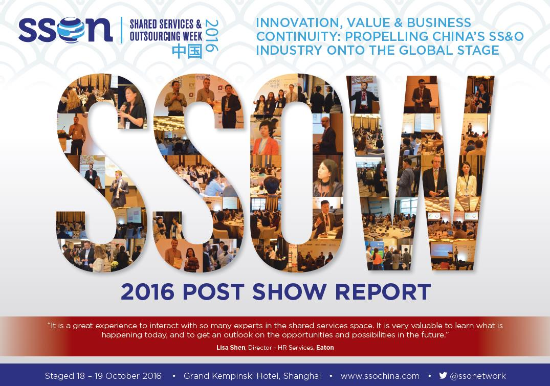 2016 Shared Services & Outsourcing China Week Post Show Report