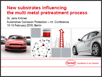 New substrates influencing the multi metal pre-treatment process