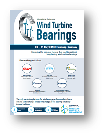 Wind turbine Bearings Agenda 2018