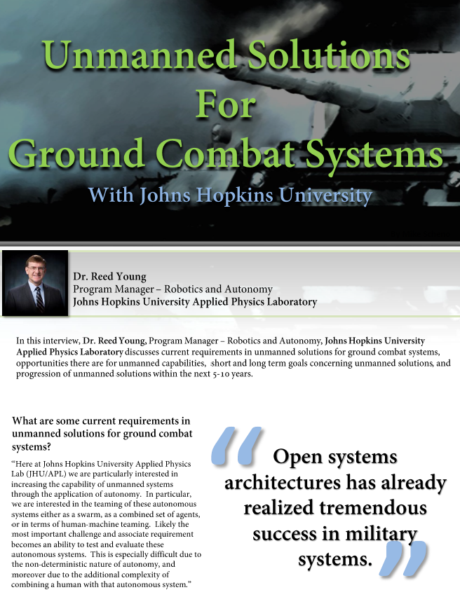 Unmanned Solutions for Ground Combat Systems with Johns Hopkins University
