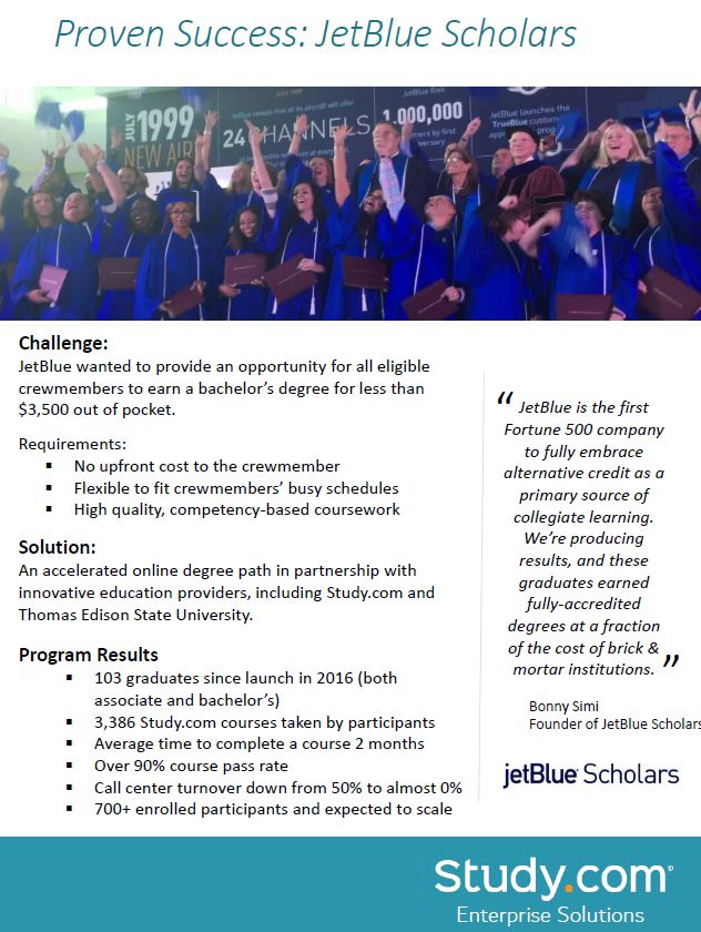 Proven Success: JetBlue Scholar
