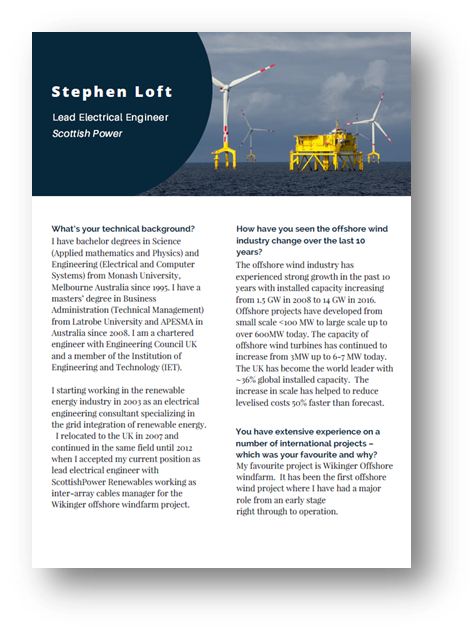 Interview with Stephen Loft, Lead Electrical Engineer at Scottish Power