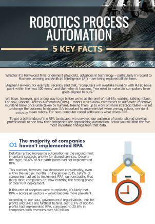Robotic Process Automation - 5 Key Facts