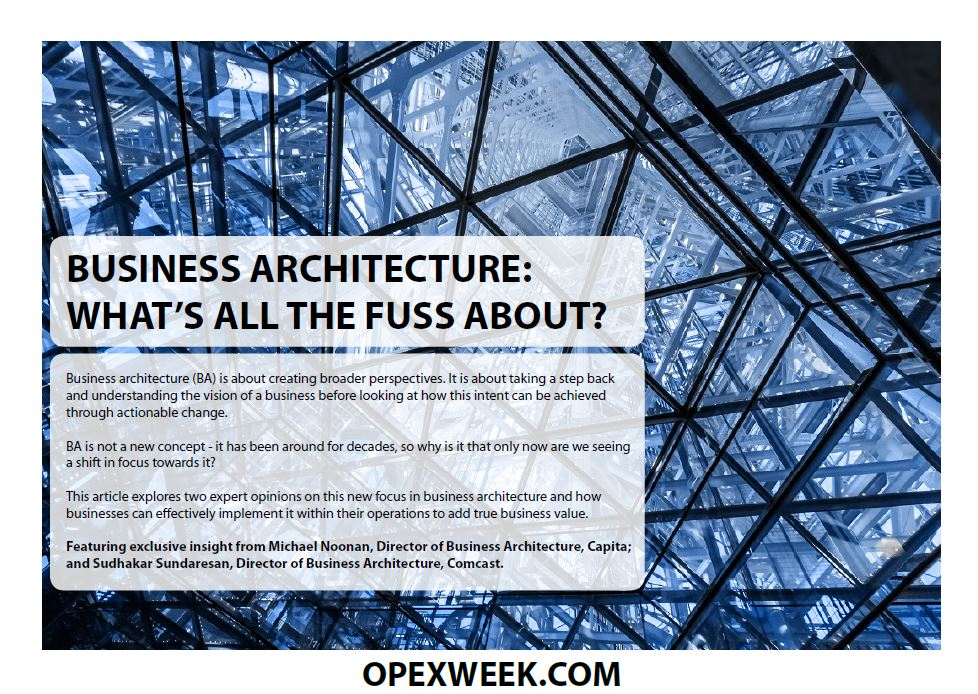 Business Architecture: What's all the fuss about?