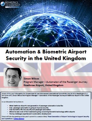 Automation & Biometric Airport Security in the United Kingdom