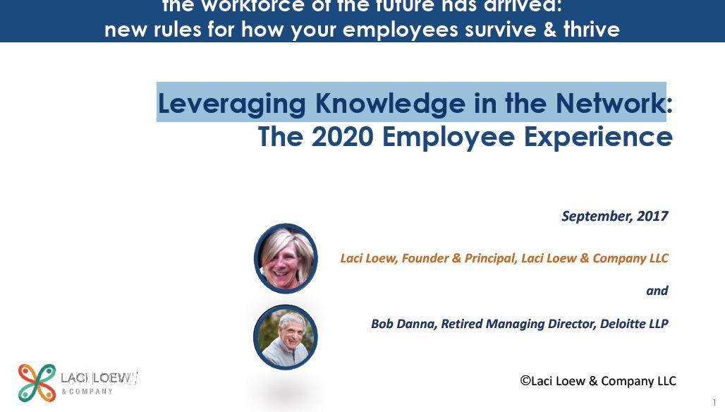 Leveraging Knowledge in the Network: The 2020 Employee Experience