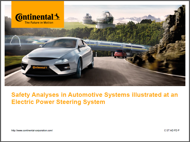Safety Analysis in Automotive Systems illustrated at an Electric Power Steering Systems