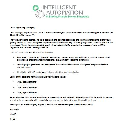 Convince Your Boss Letter - Intelligent Automation BFSI