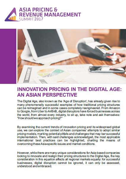 Innovation Pricing in the Digital Age: An Asian Perspective