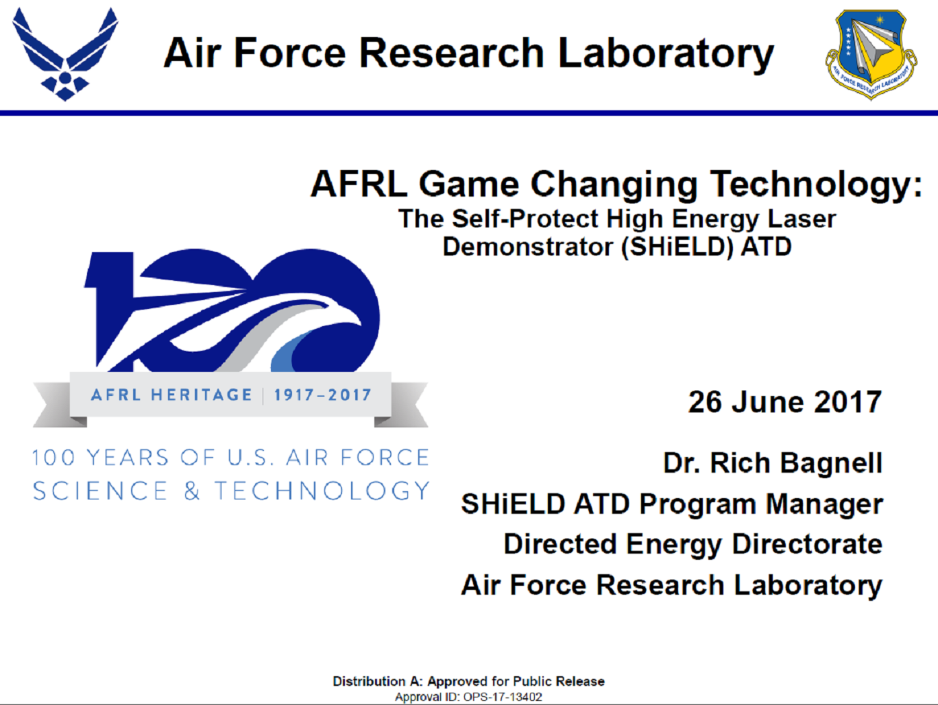 Laser Technologies at AFRL