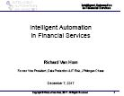Interview: Intelligent Automation in Financial Services