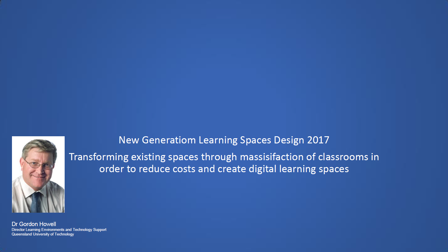 Transforming Existing Spaces through Massification of Classrooms in Order to Reduce Costs and Create Digital Learning Environments