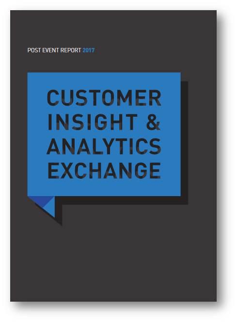 Customer Insight and Analytics Exchange 2018 -  2017 PER [sponsorship]