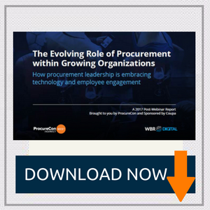 The Evolving Role of Procurement within Growing Organizations How procurement leadership is embracing technology and employee engagement