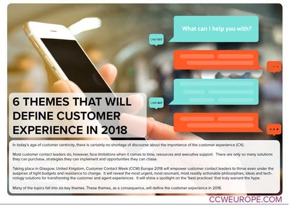 WHAT THEMES WILL DEFINE CUSTOMER EXPERIENCE IN 2018?