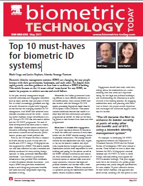 Top 10 must-haves for biometric ID systems