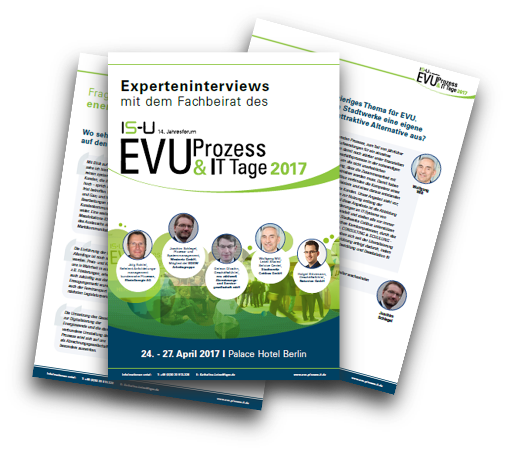 Experteninterviews mit dem Fachbeirat des 14. Jahresforums der EVU Prozess & IT Tage