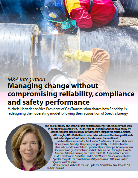 M&A Integration: Managing change without compromising reliability, compliance and safety performance