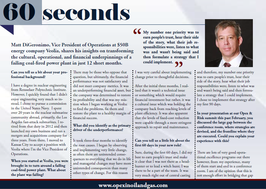 60 Seconds with Veolia
