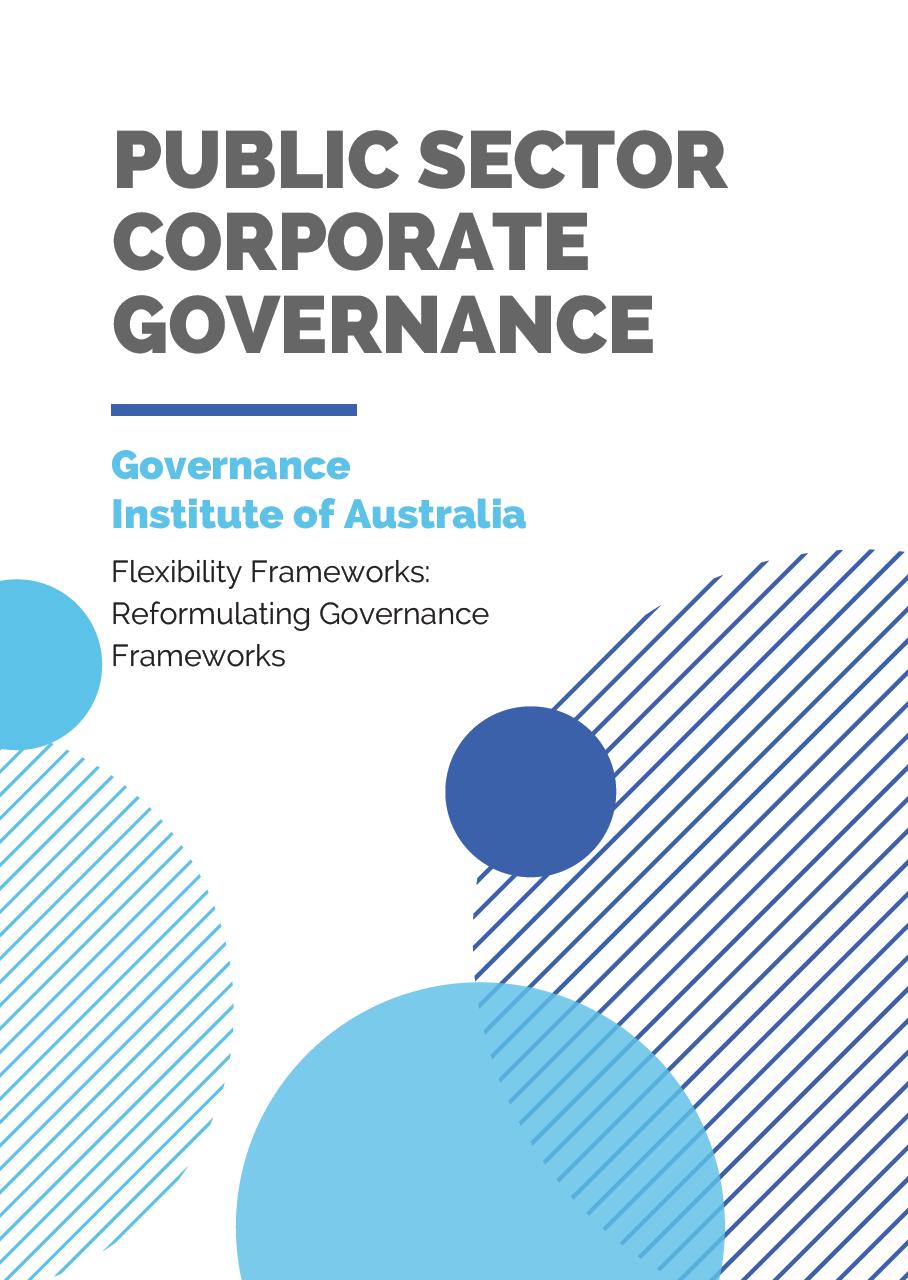 Flexibility Frameworks: Reformulating Governance Frameworks