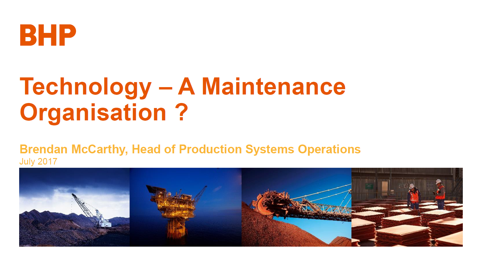Transitioning IT to a Maintenance Organisation to reduce technology downtime on Operational Technology