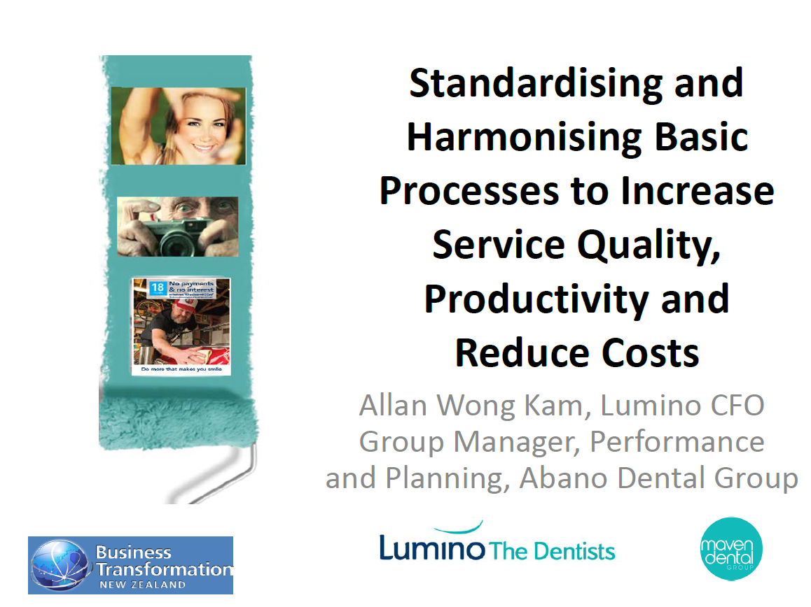 Standardising and Harmonising Basic Processes to Increase Service Quality, Productivity and Reduce Costs