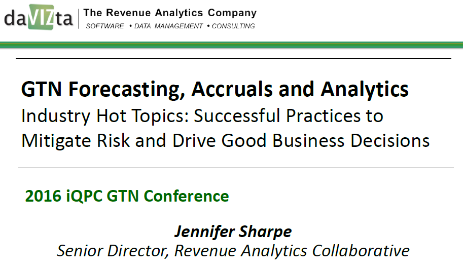 GTN Forecasting, Accruals and Analytics